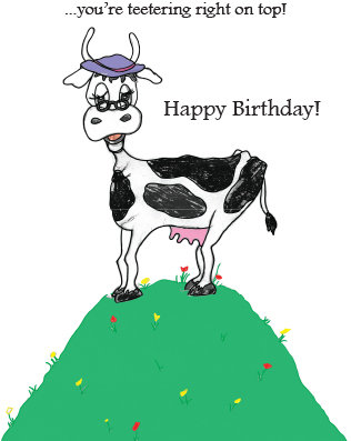 Cow Line - Birthday for Friend