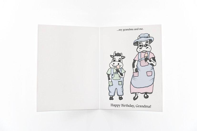 Birthday for Grandma - Ice Cream Cows