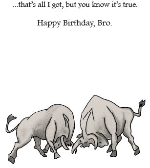 Cow Line - Birthday for Brother