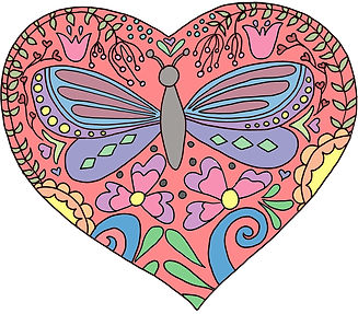 color your own butterfly valentine color