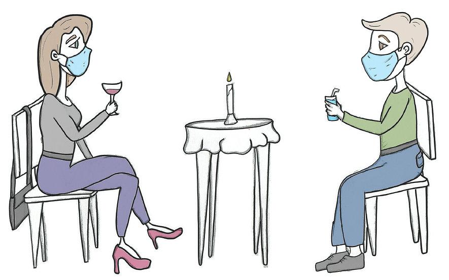 Covid Line - Card for Single Friends