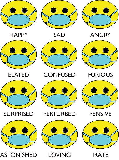 Covid Line - Emoji Card