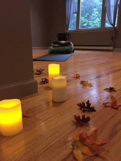 Candle lit Restorative session