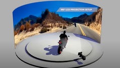 LED Wall Motorbike Previs