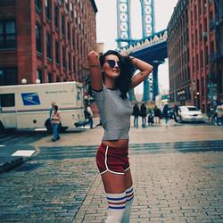 #danywild #pushit #shooting #newyork #manhattanbridge #brooklyn #fashion #musicvideo #screenshot