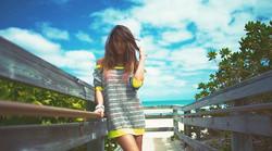 at the beach dressed by Sanne Jennerich Miami Beach Kamera Dany Wild Model Victoria Kern