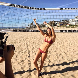 #shooting #Beach #losangeles #california #beachgirl #beauty #behindthescenes #bluesky #beach #bikini