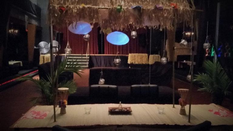 Hanging Mason Jar Backdrop
