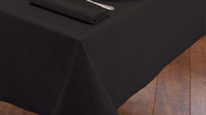 "84"" X 84"" Square Tablecloth (black/white)"