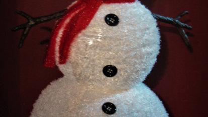 Medium Pop Up Lit Snowman