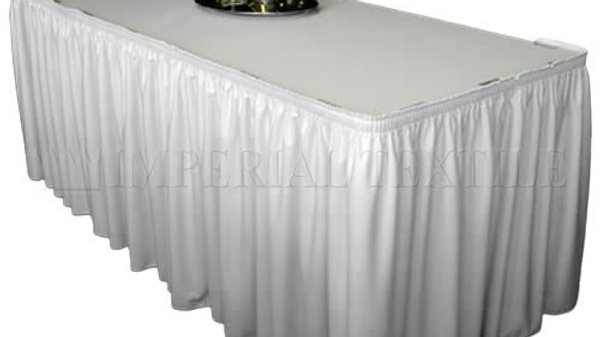 White Table Skirting (Velcro backing)