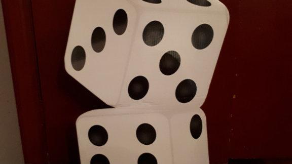 Jumbo playing dice, black & white (assembled)