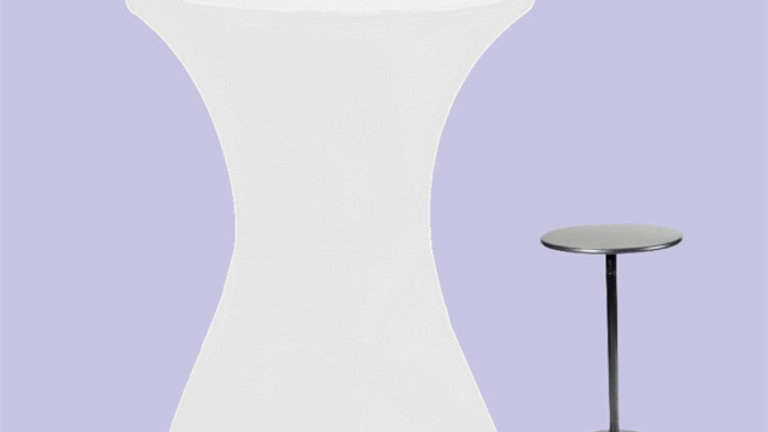 Spandex Highboy Table Cloth (white)