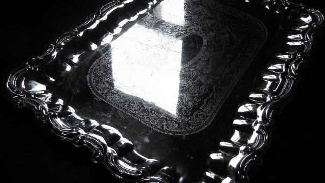 Elegant Silver Serving Tray