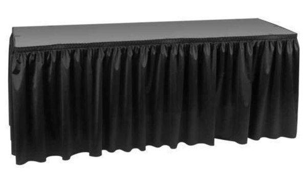 Black Table Skirting (Velcro backing)