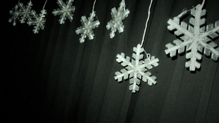 String of Large White Snowflake Lights