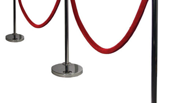 Chrome Stanchion Post