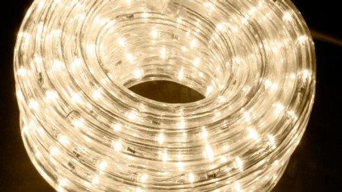 Rope LED Lighting Warm Tone (25')