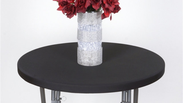 Spandex Cocktail Table Top Cover (black)