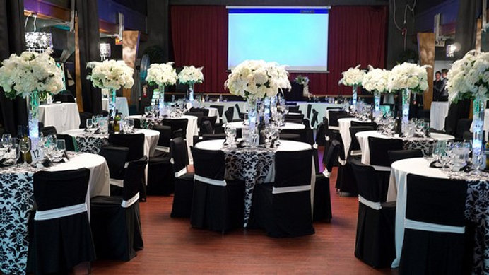 Banquet Chair Covers with Sash (black)