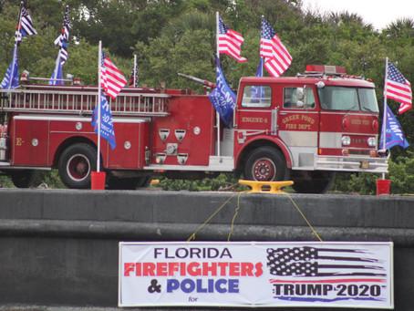 Fire Trucks In A Trump Boat Parade? EPIC!
