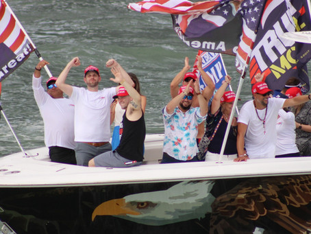 Miami Boat Parade With Eric Trump!