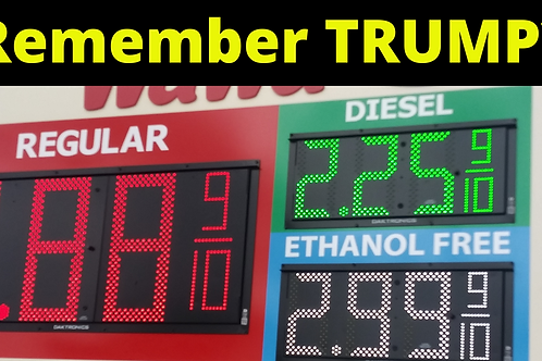 Remember TRUMP Gas Pump Sticker