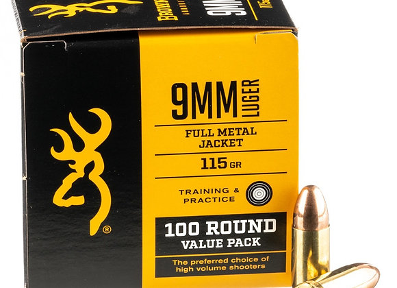 Browning 9x19mm Bulk 500 Rounds