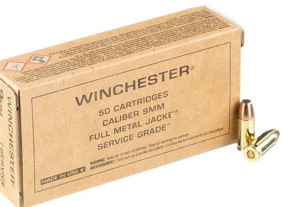 Winchester 9mm 115gr FMJ, Bulk 500 rounds