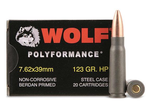 Wolf 7.62x39mm 123gr Bulk 1000rd Case