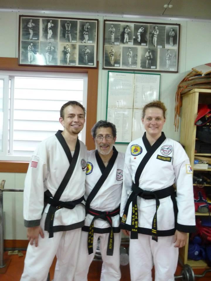 Master Meyer, black belts in Korea
