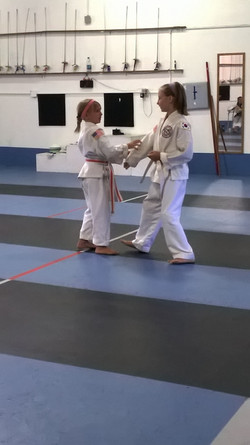 Self defense drill during test