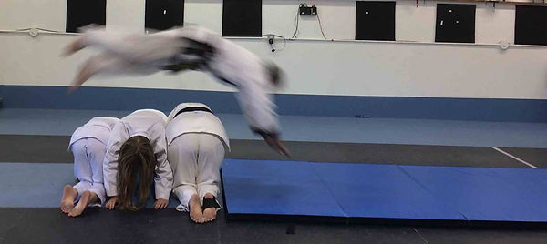 Jump roll over obstacle