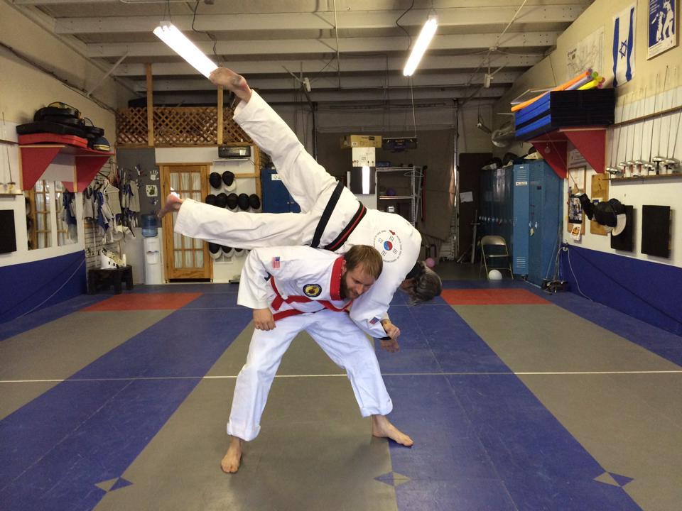 Practicing break fall