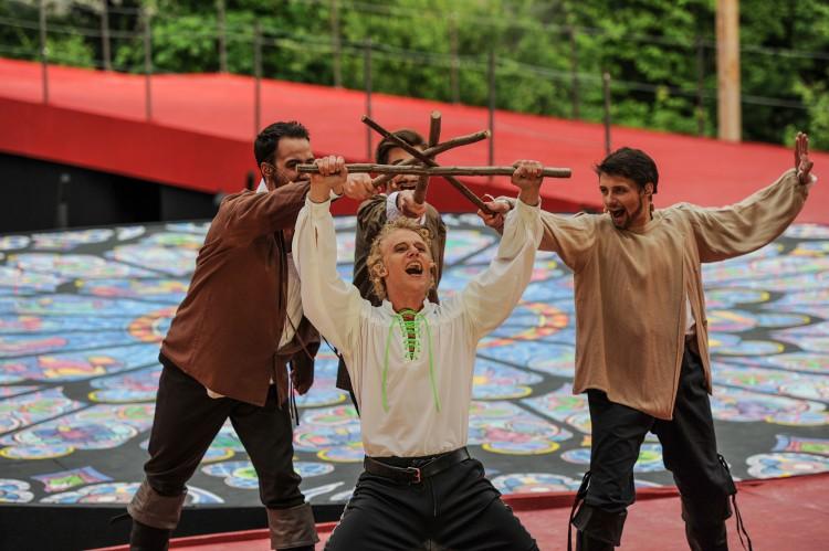 D'Artagnan mit seinen Freunden