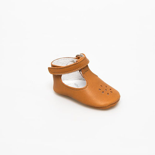 Chaussures bébé Eden Salomé Cognac