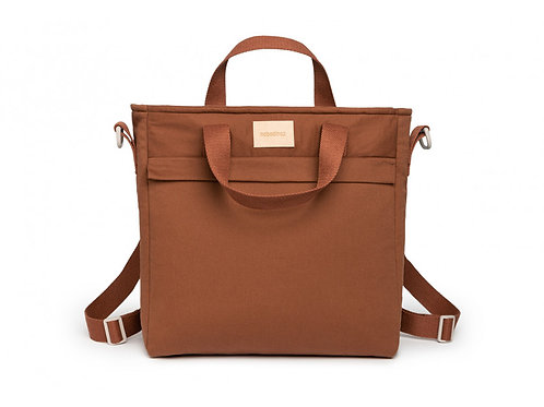 Sac à dos à langer imperméable Baby on the go • clay brown-nobodinoz