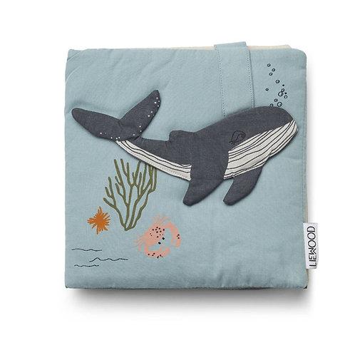 Livre déveil -sea creatures bleu-liewood