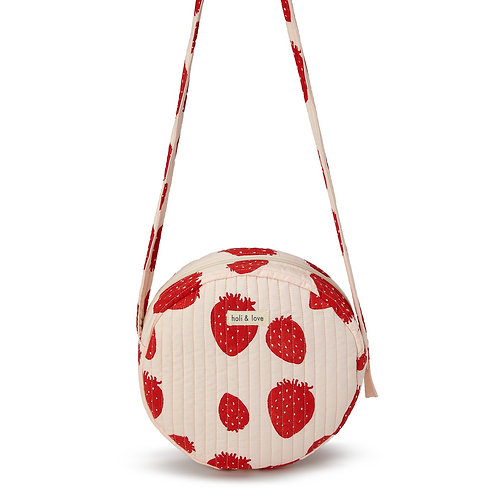 SAC ROND BANDOULIÈRE - PINK STRAWBERRY-Holi and Love