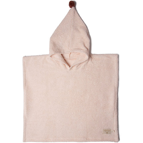 Poncho de bain rose pâle So cute (3-5 ans) Nobodinoz