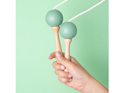 Corde à sauter 210cm verte