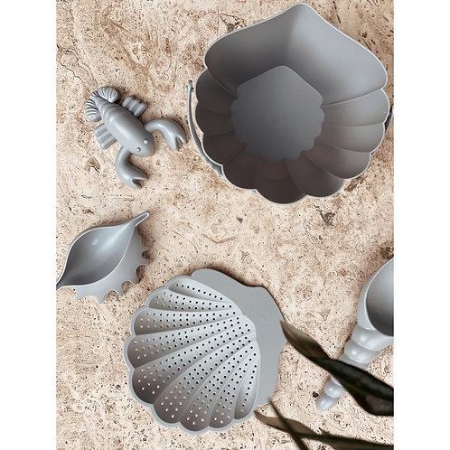 Set de jeu de plage coquillage- bleu- Konges Slojd