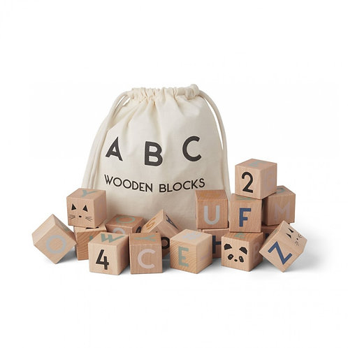 Cubes Lettres en bois-Liewood
