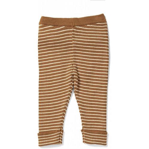 Pantalon en coton bio moutarde-Konges Slojd