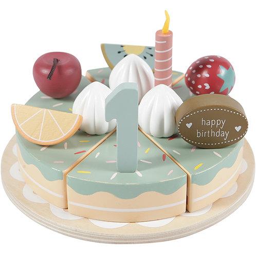 Gâteau d'anniversaire en bois (26 pièces) Little Dutch