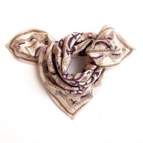 "SMALL FOULARD MANIKA ""BIRD""  - Apaches collections"