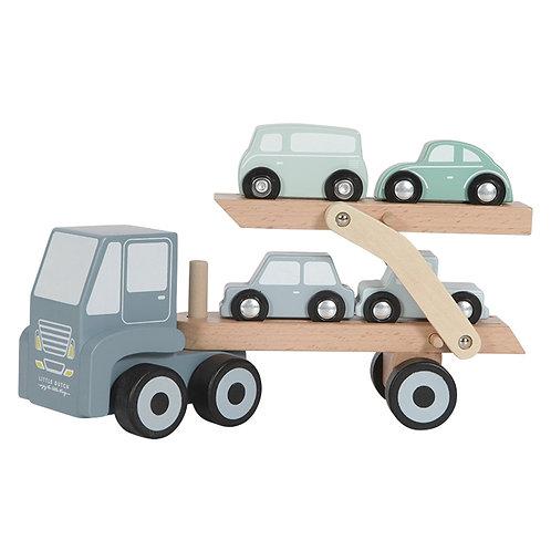 Camion transporteur bleu Little Dutch