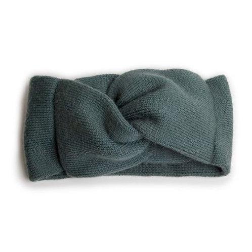 Laure - Bandeau en laine Mérinos - Fond Marin