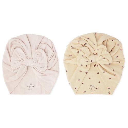 Bonnet turban lot de 2 Bloom/Lavande - Konges Sløjd