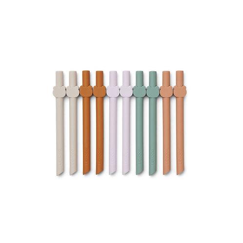 Lot de 10 pailles en silicone-Multi mix-liewood